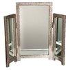 Trade Fair Mirror Moc Croc Triple Table Full Length Mirror