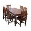 Ethnic Elements Ganga Sheesham Dining Set with 6 Chairs