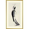 Evening Gown Sketch Framed Painting Print