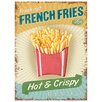Red Hot Lemon French Fries Vintage Advertisement Plaque
