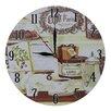 Obique Book and Café de Paris 28cm Wall Clock