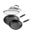 Anolon French 4-Piece Non-stick Skillet Set with Lids