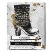 """Oliver Gal Leinwandbild """"Boots on Book"""" von Runaway Avenue, Grafikdruck"""