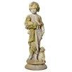 OrlandiStatuary Garden Décor Shepherd Boy Statue