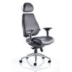 Home & Haus Asbjerg High-Back Leather Desk Chair