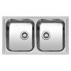 Reginox Diplomat 86cm x 50cm Double Bowls Inset Kitchen Sink