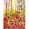 Magnolia Box Autumn Woods by Neela Pushparaj Art Print on Canvas
