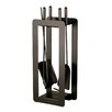 Heibi 4 Piece Steel Fireplace Tool Set