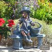 Solstice Sculptures Statue Girl on Bench