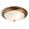 Endon Lighting Athens 2 Light Flush Ceiling Light