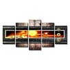 Urban Designs Abstract Forms 5 Piece Graphic Art Wrapped on Canvas Set
