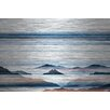 Parvez Taj 'Hidden Blue Mountains' by Parvez Taj Painting Print on Brushed Aluminum