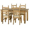 Home & Haus Alisa Extendable Dining Set with 4 Chairs