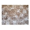 Pedrini LifeStyle-Mat Spirals Rug in Brown, Beige and White
