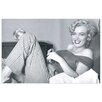 House Additions Marilyn Monroe Bed Photographic Print Plaque