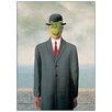 House Additions 'Les Fils de l Homme' by Magritte Art Print Plaque