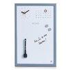 Zeller Present Memobord in Alugrau mit Uhr und Kalender