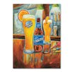 """Miller Coors """"Darts"""" by Blue Moon Painting Print on Wrapped Canvas"""