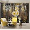 Komar Serafina 2.54m L x 368cm W Floral and Botanical Tile/Panel Wallpaper