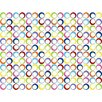 Sheetworld Primary Rings Woven Portable Mini Fitted Crib Sheet