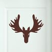 Cut It Out Wall Stickers Cool Forward Facing Moose Head Door Room Wall Sticker