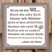 Factory4Home BD-In Our Washroom Typography Plaque Set in Taupe (Set of 2)