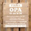 Factory4Home Plaque Set Firma Opa GmbH Typographic Art
