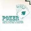 Cut It Out Wall Stickers Poker Takes a Minute To Learn and a Lifetime to Master Wall Sticker