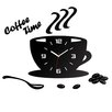 ModernClock Analoge Wanduhr Coffee Time 3D