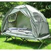 Outsunny 4 Piece 1 Person Camping Tent and Cot