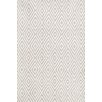 Diamond Hand-Woven Gray/White Indoor/Outdoor Area Rug