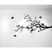 Innovative Stencils Tree Branches with Leaves and Love Birds Wall Decal