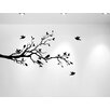 Innovative Stencils Tree Branches with Leaves and Love Birds Nursery Wall Decal