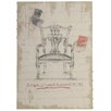 Derry's Antique Chippendale Chair Art Print on Canvas
