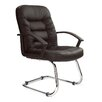 Home & Haus Medium Back Visitor Chair in Black