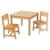 KidKraft 3-tlg. Quadratisches Kinder Tisch und Stuhl-Set