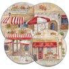 Range Kleen 4 Piece Round Paris Cafe Burner Cover Set
