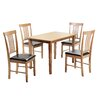 Three Posts Wallkill Dining Table and 4 Chairs