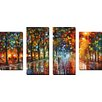 "Picture Perfect International ""Unreal Senses"" by Leonid Afremov 4 Piece Painting Print on Wrapped Canvas Set"