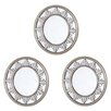 Three Posts Silver/Gold Skyline Mirror (Set of 3)