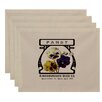 August Grove Swan Valley Pansy Floral Print Placemat (Set of 4)