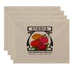 August Grove Swan Valley Zinnia Floral Print Placemat (Set of 4)