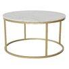 Hazelwood Home Marble Coffee Table