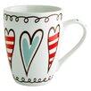 Fairmont and Main Ltd 4-tlg. Kaffeetasse Hearts Bunting