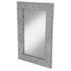 Wildon Home Wooden Mosaic Accent Mirror