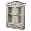 Hazelwood Home Glazed 2 Door Storage Cabinet