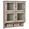 Hazelwood Home 4 Door Storage Cabinet with Hook