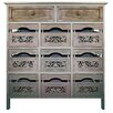 Hazelwood Home 9 Drawer Storage Cabinet