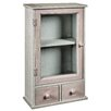 Hazelwood Home 2 Drawer 1 Door Wall Storage Cabinet
