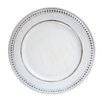 """ChargeIt! by Jay 14"""" Melamine Beaded Charger Plate (Set of 4)"""